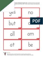 Sight Word Bingo 303