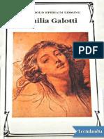 Lessing - Emilia Galotti