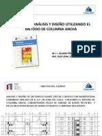 Ejemplo de Análisis y Diseño Utilizando El Metodo de Columna Ancha m.i. j. Álvaro Pérez Gómez Ing. Alex Zenil Escamilla