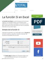 La Función SI en Excel - Excel Total