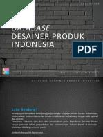 Database Desainer Produk Indonesia 2013