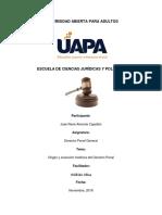 Tarea de La Unidad i Derecho Penal General