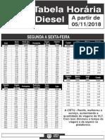Nova tabela de horários da Linha Diesel