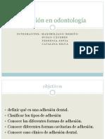 Adhesión en Odontología Final