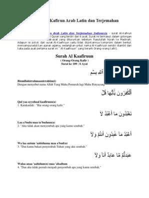 Tugas Huznu Surah Alqafirun