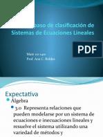 Repaso de clasificación de Sistemas de Ecuaciones Lineales
