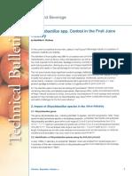 Alicyclobacillus - Control