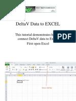 DeltaV to Excel Tutorial v11