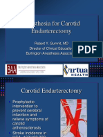 Anesthesia for Carotid Endarterectomy