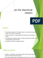Starters for Electrical Motors