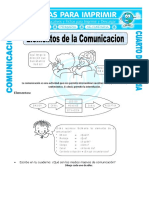 Ficha Elementos de La Comunicacion Para Cuarto de Primaria
