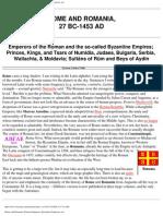 History - Rome and Romania, 27 Bc - 1453 Ad