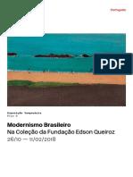 Modernismo Brasileiro Na Coleção Da Fundação Edson Queiroz, 2017