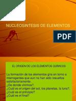 Nucleosintesis de Elementos