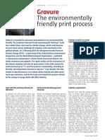 Gravure. The environmentally friendly print process (Gravure News 2007)