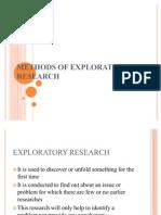 Methods of Exploratory