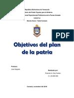 Objetivos Del Plan de La Patria