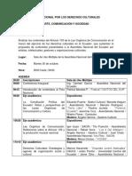Agenda - Foro Nacional Por Los Derechos Culturales - Copia
