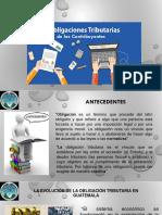 Obligaciones Tributarias de Los Contribuyentes en Guatemala