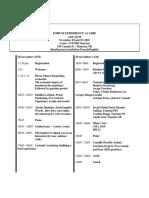 Forum Schedule