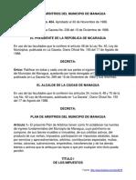 Plan de Impuestos Del Municipio de Managua
