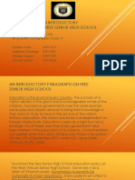 An Introductory Paragraph on Free Senior High School