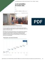 Número de Detidas Em Presídios Femininos No Brasil Cresce Oito Vezes Em 17 Anos - Notícias - Cotidiano