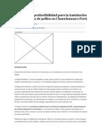 Proyecto de Prefactibilidad Para La Instalación de Una Granja de Pollos en Chanchamayo Perú