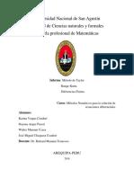 METODO DE TAYLOR-RUNGE KUTTA Y DIFERENCIAS FINITAS