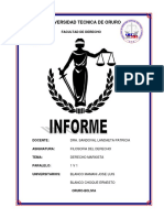 Informe. Derecho Marxista
