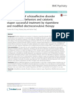 Schizoaffective Disorder With Ritualistic Behaviors and Catatonic Stupor Successful Treatment by Risperidone and Modified Electroconvulsive Therapy