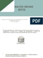 Biorreactor Continuo (Batch)