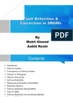 Fault Detection & Correction in Software Reliability Growth Models