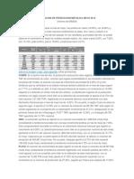 Evolucion de Produccion Metalica Mayo 2015