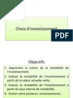 Choix d Investissement