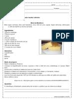Interpretacao de Texto Receita Culinaria 8º Ano Word 1