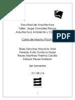 Carte de Machu Picchu