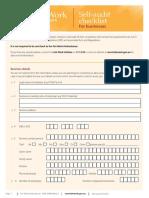 Self Audit Checklist