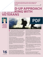 A Joined-up Approach to Working With Veterans