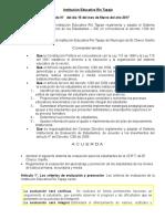 Propuesta de Evaluacion Institucional 2017