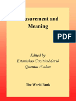 (World Bank Technical Papers 518) Estanislao Gacitua-Mario, Quentin Wodon-Measurement and Meaning_ Combining Quantitative and Qualitative Methods for the Analysis of Poverty and Social Exclusion in La