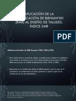 Aplicación de La Clasificación de Bieniawski (Rmr