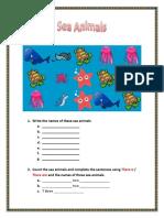 Ejercicios - Sea Animals