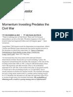 Momentum Investing Predates the Civil War | The Irrelevant Investor