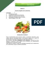 valor energetico de los alimentos