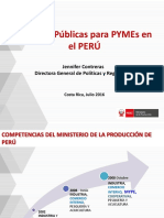 Politicas Publicas Para Pymes en El Peru