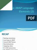 4-5. Basic ABAP Language Elements (2)