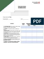 P. Cotejo Informe Escrito