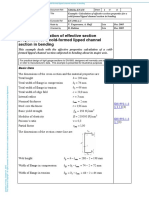 Calculation of effective section properties for a cold-formed lipped channel section in bending.pdf