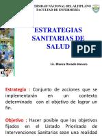 ESTRATEGIAS SANITARIAS  MINSA 2018